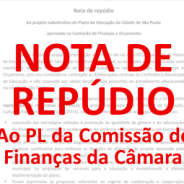 Nota de repúdio ao PL do PME
